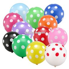 PuTwo Party Balloons 50 pcs 12 Inch Polka Dot Balloons Colourful Balloons Kids Party Decorations Birthday Decorations for Kids Spotty Balloons for Easter, Kids Party, Kids Birthday, Childrens Party Wedding Balloon Decorations, Christmas Party Decorations, Wedding Balloons, Birthday Balloons, Birthday Party Decorations, Wedding Decoration, Polka Dot Balloons, Large Balloons, Polka Dots