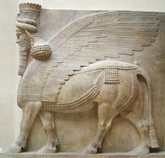 Winged human-headed bull Neo-Assyrian Period, reign of Sargon II BC) Khorsabad, ancient Dur Sharrukin, Assyria, Iraq High relief and sculpture in the round Ancient Aliens, Ancient History, Art History, Ancient Mesopotamia, Ancient Civilizations, Ancient Mysteries, Ancient Artifacts, Art Occidental, Venus De Milo