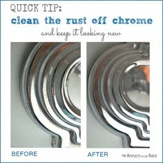 DIY:: Simple Secret for Cleaning the Rust Off Bathroom Fixtures & Keeping Them Looking New !
