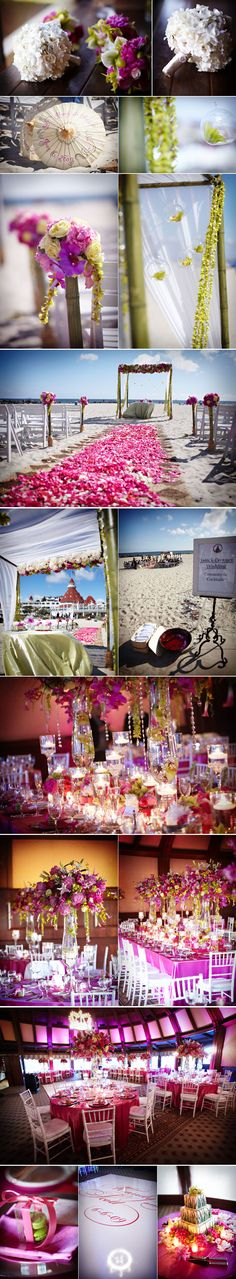 """@Gaby Pastor: Every picture of a San Diego beach wedding I see that I'm like """"OMG perfect"""" is Hotel Del Coronado!! Apparently it's the most popular venue in SD so if you guys want this one, I'd start contacting them soon!"""