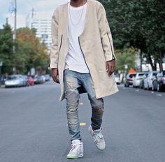 Nike Air Yeezy on feet