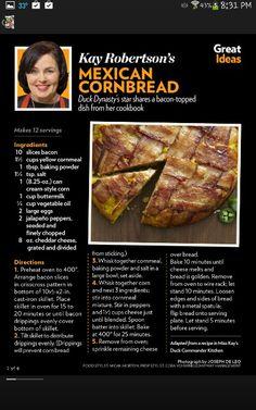 Bacon cornbread......Miss Kay recipe