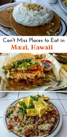 After enjoying a Maui adventure, you need to eat! Where to find the best places to eat in Maui, Hawaii. From fish to fried rices and everything you want to try in Maui. Maui Hawaii, Kauai, Visit Hawaii, Hawaii Vacation, Lahaina Maui, Hawaii Life, Kaanapali Maui, Maui Vacation Rentals, Tropical Vacations