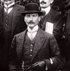 Mustapha Kemal Ataturk looks really cool and handsome!