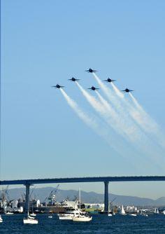 Blue Angels over the Coronado Bridge