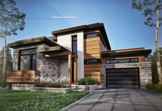26 Ideas house exterior design stone bricks for 2019 Evolution Architecture, Wood Architecture, Residential Architecture, Contemporary Architecture, Modern Contemporary, Pavilion Architecture, Japanese Architecture, Sustainable Architecture, Amazing Architecture