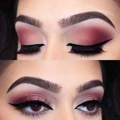 Matte Smokey Makeup Idea #matteshadow How to pick the best eyeshadow palette when the choice is so wide? Learn which will work for you best: Kylie, Elf, Morphe, Too Faced, Urban Decay. #eyeshadowpalette #palette #makeup #glaminati #lifestyle