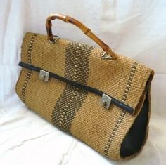 STRAW  WOVEN  HOBO  BAG  by bOmode on Etsy