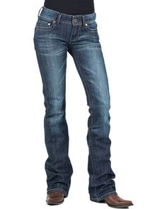 Stetson created the perfect pair of jeans for your inner tough girl. The dark wash denim has fading and whiskering that is well placed for an organically worn Cowgirl Look, Cowgirl Jeans, Western Jeans, Jeans Pant Shirt, Cut Jeans, Denim Jeans, Work Attire Women, Western Outfits Women, Pants For Women