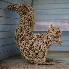Red Squirrel £550.00 The sculptures are made using British willow that is interwoven and shaped around steel armature by talented artist Emma Stothard, who has been invited by HRH The Prince of Wales to exhibit her willow sculptures on the Orchard Lawns at Highgrove. The contrasting willow colours create form and definition in each animal sculpture. Finally the piece is then coated in a linseed oil and turpentine solution to preserve and protect it. Emma was able to start her business with…