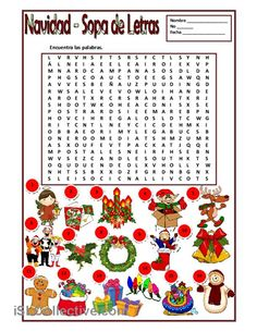 Printing Videos Structure How To Learn Spanish At Home Spanish Classroom Activities, Spanish Teaching Resources, Christmas Activities, Learning Activities, Christmas Crossword, Christmas Puzzle, Spanish Christmas, Spanish Holidays, Christmas 2017