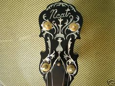 Frank Neat Deluxe Timeless Banjo Gibson Wreath Inlay - Banjo brands