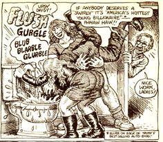 The Bristol Board: harveyjames: Robert Crumb taking on Donald Trump. Robert Crumb, Fritz The Cat, Protest Songs, Alternative Comics, Bristol Board, Bd Comics, Vintage Comics, Comic Artist, Comic Strips