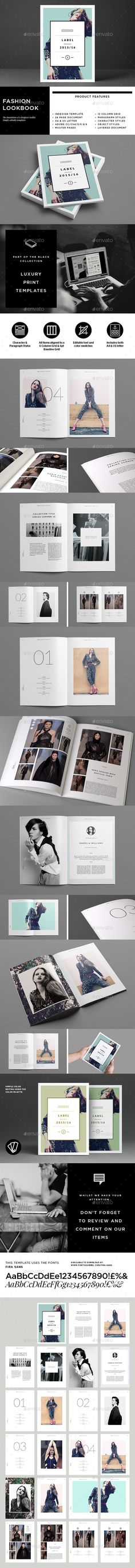 Fashion Lookbook — InDesign INDD #print #catalogue • Available here → https://graphicriver.net/item/fashion-lookbook/9299427?ref=pxcr