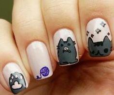 Pusheen Nails - kitty
