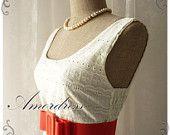 White Cream Lace Dress Princess Lacy Romantic White Cream Lace Dress Party Prom Wedding Birthday Anniversary Dress -S-M-