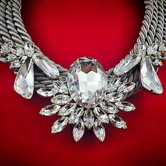 Snow White Statement Necklace - All Crystals from Swarovski® - Silver-plated Elements