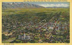 View of Salt Lake City Utah Utah Usa, Salt Lake City Utah, Vintage Postcards, City Photo, Tours, History, World, Slc, Outdoor