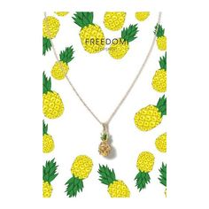 TopShop Pineapple Rhinestone Necklace ($12) ❤ liked on Polyvore featuring jewelry, necklaces, yellow, pineapple jewelry, pineapple necklace, topshop, topshop jewelry and topshop necklace