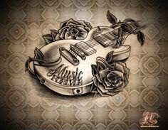 Music tattoo 3D