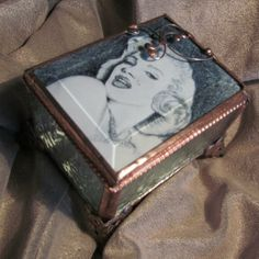 Heart Shaped Jewelry Trinket Box with Black White Marilyn Monroe