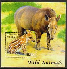 Tapir Wild Animals MNH S/S stamp