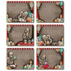 Light Shine - Set of 6 Placemats and Coasters by Lisa Pollock