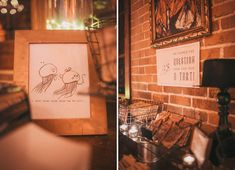 animal and science themed wedding---cute drawings