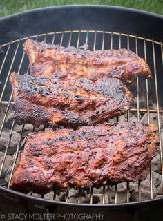Perfect Fall Off the Bone Grilled Sweet BBQ Baby Back Ribs Recipe @coalgrilling  #KingsfordFlavor Ad
