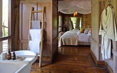 Situated in a remote corner of scenic Lake Manyara National Park, this luxury safari lodge boasts romantic treehouse suites set in a mahogany forest.