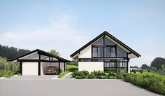 grundriss huf haus | HUF Haus modum: Kundenplanungen Eco Homes, Modern Homes, Style At Home, Flat Pack Homes, Prefabricated Houses, Interior And Exterior, Townhouse, Gazebo, Farmhouse