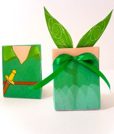 Peter Pan and Tinkerbell Treat Boxes on Etsy, $7.00