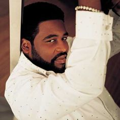 The late Gerald Levert was a sexy man. I love a man with facial hair.