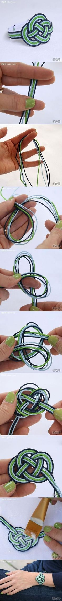 How to make love bracelet step by step DIY instructions / How To Instructions: