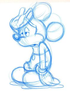 """Ruff drawings done when I worked for The Walt Disney Company (Nordic). Today I travel around Denmark teaching children to draw Disney characters """"The old Disney way""""."""