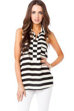 ShopSosie Style : Nobis Striped Top