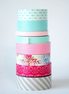 washi tape... i love all of these colors & patterns together