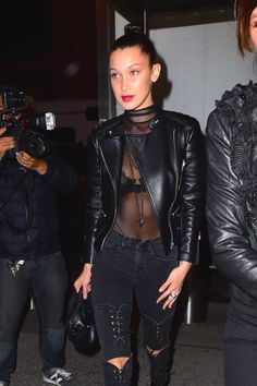 Bella Hadid getting in on the goth trend.