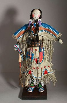 Northern Plains Blackfeet style indian beaded doll, fantastic