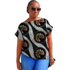 Summer Fashion African Short Sleeve Women Tops Dashiki Clothes African Festive Print T-Shirt Africa Women Clothing Customized African Shirts, African Fashion, African Style, Dashiki, African Attire, Sleeve Styles, Clothes For Women, Casual, Sleeves
