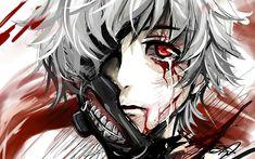 Das ist Ken Kaneki oder Kaneki Ken. Der Protagonist des Animes Tokyo Ghoul.