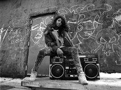 """Mike Schreiber, MIA (Boombox), Limited Edition Print of 44, 645 Negative Gelatin Silver print, 16""""x20"""".....$675"""