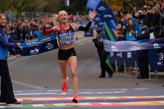 November 6 2017 - Shalane Flanagan becomes the first American woman to win the New York City Marathon since 1977