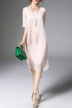 Shop zeraco apricot high-low solid color dress here, find your midi dresses  at dezzal, huge selection and best quality.