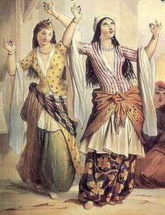 dancing harem women in Turkish (ottoman empire) costume Belly Dance Outfit, Tribal Belly Dance, Belly Dance Costumes, Gypsy Costume, Folk Costume, Empire Ottoman, Arabian Women, Belly Dancing Classes, Female Dancers