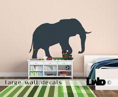 Nursery Wall Decor  Elephant Wall Decal  Vinyl by LargeWallDecals, $42.00