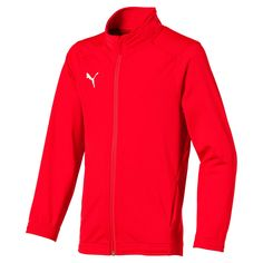 PUMA Football Kids' Liga Sideline Core Jacket in Red/White size Youth PUMA Football Kids' Liga Sideline Core Jacket in Red/White size Youth Kaftan, Puma Football, White Puma Shoes, Puma Cali, Cool Fabric, Pumas Shoes, African Women, African Dress, Top