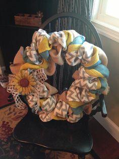 Burlap wreath @Caylene Hinger Ingram