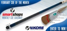 Ready to run some tables? Enter to win a Viking Cue! This limited edition custom cue is equipped with the ViKORE Performance shaft. Get your winning streak started! Enter to Win!