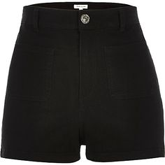 Black high waisted denim shorts £25.00